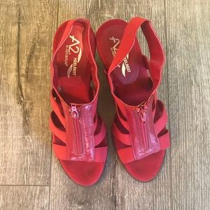 A2 Aerosoles red sandal size 8